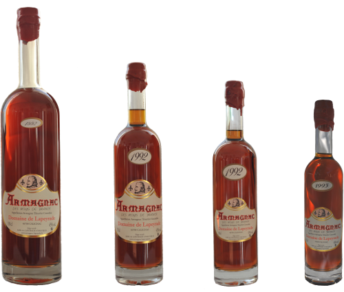 The Arianes bottles of Armagnac.