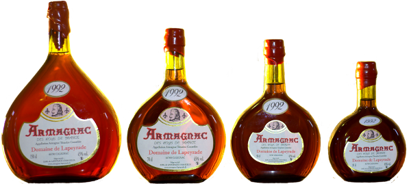 The Basquaises bottles of Armagnac.